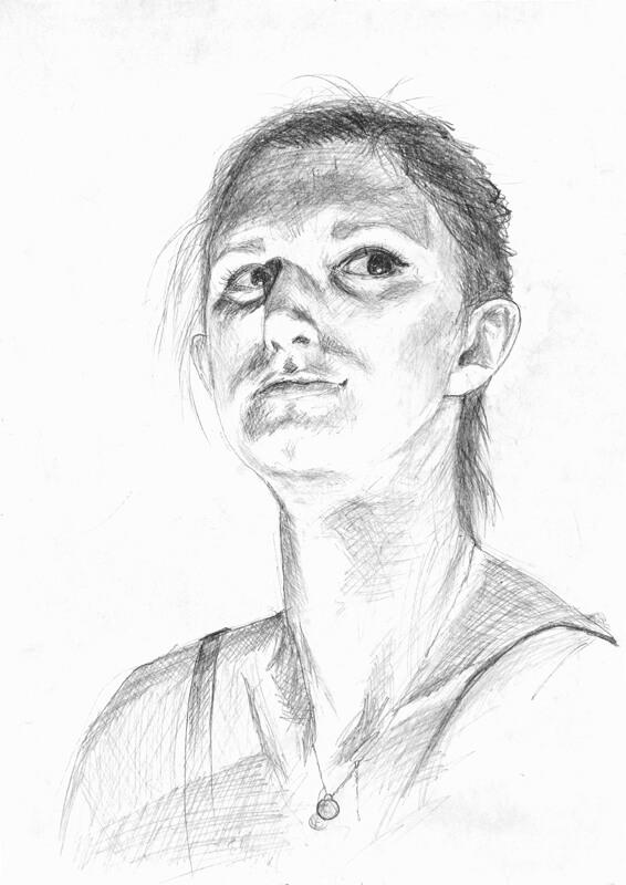 Portret wykonany na zajęciach