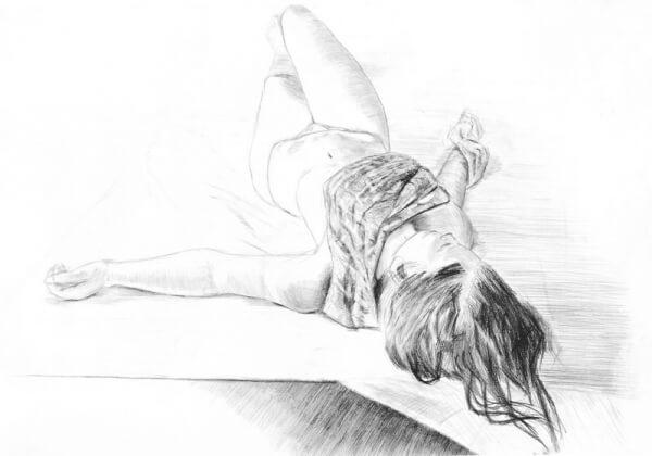Postać rysunek na zajęciach
