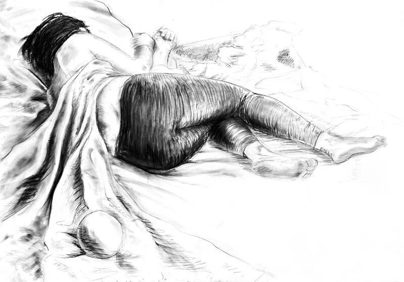 Rysunek postać wykonana przez uczestnika kursu