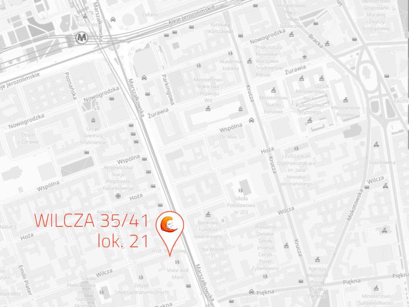 Wilcza - mapa